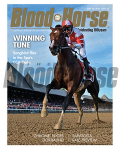 July 30, 2016 Issue 30 cover of Blood-Horse featuring Songbird's win in the CCA Oaks, California Chrome's edge over Dortmund and the Saratoga Sale preview.