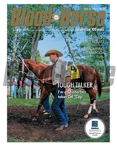 July 23, 2016 Issue 29 cover of Blood-Horse featuring I'm a Chatterbox takes the Del' Cap, Saratoga handicapping, Fasig-Tipton July sale results, and MarketWatch.
