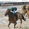 August 11, 2018 issue 33 cover of BloodHorse featuring D-Lightful as Diversify splashed home in the Whitney, Remembering Bill Graves, Smon Bazalgette, Letters from Rockland Farm.