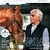 April 28, 2018 issue 17 cover of BloodHorse featuring Timeless Classic as Trainer Bob Baffert, 65, with Justify, Triple Crown Preview Issue, Ten Years After: Big Brown, Woody Stephens' Belmont Streak.