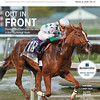 March 10, 2018 issue 10 cover of BloodHorse featuring Out In Front as Promises Fulfilled wires the field in the Fountain of Youth, Candy Ride, Elliott Walden, In My Opinion - Bill Oppenheim