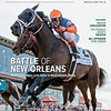 March 31, 2018 issue 13 cover of BloodHorse featuring Battle of New Orleans as Noble Indy edges Lone Sailor in the Louisiana Derby, Breeder John Gunther, the Stronach Group's Tim Ritvo, Bill Oppenheim - In My Opinion