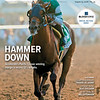 August 25, 2018 issue 35 cover of BloodHorse featuring Hammer Down as Accelerate's Pacific Classic winning margin a record 12 1/2 lenghts, Champion Building:Travers vs. Derby, Looking Back: Silky Sulliban, In My Opinion: Bill Oppenheim.