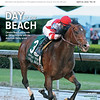 April 20; 2019; issue 16; cover of Blood Horse; Day at the Beach: Omaha Beach erns role as Derby favorite with his Arkansas Derby score; Also Inside: Master in the Saddle Eddie Arcaro, Keeneland's 2YO sale returns, In my opinion: Bill Oppenheim; On the cover: Omaha Beach and Mike Smith capture the Arkansas Derby, G1, at Oaklawn Racing Casino Resort; April; 13; 2019;