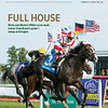 August 17; 2019; issue 33; cover of Blood Horse; Full House: Bricks and Mortar's Million score leads trainer Chad Brown's grade 1 sweep at Arlington Also Inside: Racing Returns: Colonial Downs, Record Average F-T Saratoga Sale, John Sondereker; On the cover: Bricks and Mortar and Irad Ortiz Jr. win the Arlington Million XXXVII Stakes (G1T) at Arlington International Racecourse on August 10, 2019.