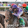 February 9, 2019, issue 6, cover of Blood Horse, Bang-up Finishe Harvey Wallbanger skims the rail to win the Holy Bull at 29-1 Also Inside: Behind the Matings: John Gunther, Trainer John Servis, Letters from Rockland Farm. On the cover: Harvey Wallbanger and Brian Hernandez Jr. win the Fasig-Tipton Holy Bull Stakes (G2) at Gulfstream Park, February 2, 2019.