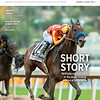 January 5, 2019 issue 1 cover of BloodHorse featuring Short Story McKenzie cuts back, rolls in the seven-furlong Malibu at Santa Anita, Also inside: Japan's Road to the Derby, History of Winter Racing in New York, and Blue Hen no class