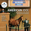 September 21; 2019; issue 38; cover of Blood Horse; American Idol: American Pharoah--Leslie's Lady fill sets mark at Keeneland September, Also Inside: Justify and Scopolamine, Lessions of Loss: Luis Saez, In My Opinion: Bill Oppenheim, On the cover: The American Pharoah--Leslie's Lady filly consigned as hip 498 in the ring at<br /> at the Keeneland September Sale in Lexington, Kentucky on September 11, 2019