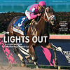 February 2, 2019, issue 5, cover of Blood Horse, Lights Out City of Light takes flight in $9 million Pegasus World Cup, Also Inside: 2018 Eclipse Awards: Justify Named Horse of the Year. On the cover: City of Light and Javiar Castellano win the Pegasus World Cup, Trained by Mike McCarthy, Gulfstream Park, Hallandale Beach, FL, 1-26-19, photo by Mathea Kelley/racingfotos