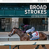 July 18; 2020; issue 29; cover of Blood Horse; Broad Strokes: Art Collector enters Derby frame with Blue Grass score, Also Inside: Lee and Susan Searing, Peter Callahan, 50 Years at Crestwood Farm, On the cover: Art Collector with Brian Joseph Hernandez Jr. wins the Toyota Blue Grass Stakes (G2) at Keeneland Racecourse, on July 11, 2020