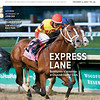 December 5, 2020; issue 49; cover of Blood Horse; Express Lane: Bodexpress is victorious in Churchill Downs' Clark, Also inside: Retirement of John Oxx, Breeders/Owner Frank Fletcher, Sam Houston Race park, On the cover: Bodexpress and jockey Rafael Bejarano cross the wire first in the Grade 1 Clark Stakes at Churchill Downs in Louisville, Kentucky on November 27, 2020.