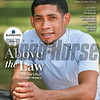 August 29; 2020; issue 35; cover of Blood Horse; Above the Law: Tiz the Law's Pilot Manny Franco, Also Inside: Top Breeder: Peter Blum, Special Section: Breaking and Training, Pacific Classic: Maximum Security, On the cover: Manny Franco, jockey, at Saratoga Race Course on July 30, 2020