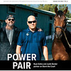 January 18; 2020; issue 3; cover of Blood Horse; Power Pair: Ryan Exline and Justin Border partner on Storm the Court, Also Inside: The Mare Man: James Keogh, Breeze Easy's Mike Hall & Sam Ross, Irish Inspiration: Pat Smullen; On the cover: Ryan Exline and Justin Border of Exline-Border Racing with Storm the Court at Santa Anita Park, California, on January, 4, 2020.