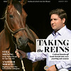 August 2021 issue 18, cover of BloodHorse; Taking the Reins: Conrad Bandoroff leads Denali into 2021 yearling sale season. Also inside: Recollections, and History in the Making: Fasig-Tipton Co. celebrates its 100th Saratoga yearling sale; In Need of a Miracle: All too familiar with the loss of cherished tracks, racetrackers hope Arlington can be saved; Lows' Rise: Owners Robert and Lawana Low see vision coming together at their showplace farm Primatara near Springfield, Mo., and more. On the cover: Conrad Bandoroff. Rick Samuels Photo