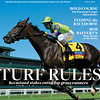 April, 2021 issue 14; cover of BloodHorse; Turf Rules: Keeneland stakes entice top grass runners