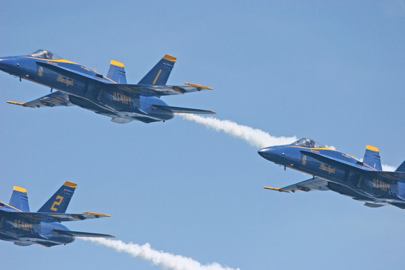 The Blue Angels over Lake Washington