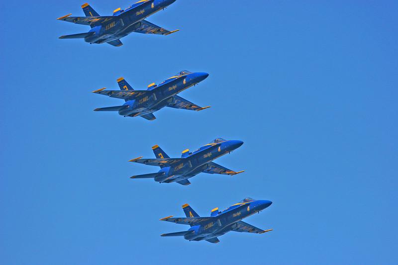 The Blue Angels perform over Lake Washington