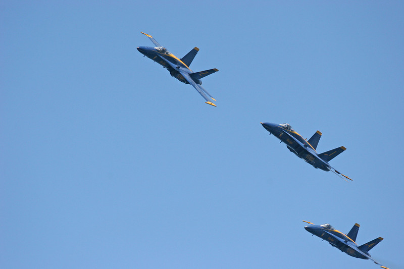 The Blue Angels flight performance
