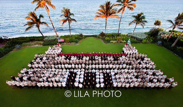 THE LIVING LOGO at THE BREAKERS.   photography by: LILA PHOTO