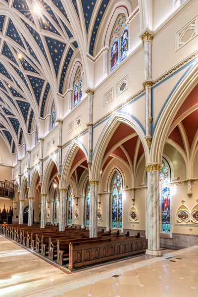 Interior of the newly renovated Cathedral of John the Baptist