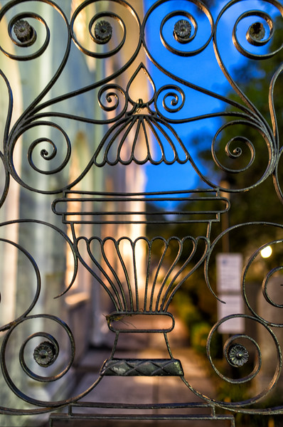 St. Michael's Episcopal Church - wrought iron gates