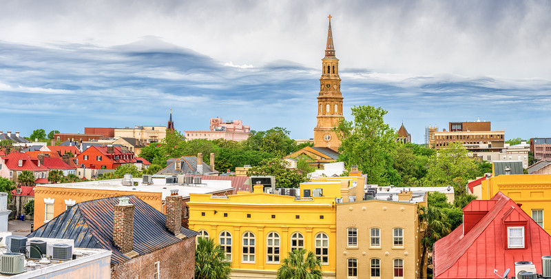Charleston Skyline with Storm approaching