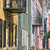 Rainbow Row, East Bay Street, Charleston, SC