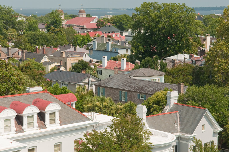 Downtown Charleston rooftops