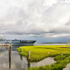 The Ferry and Yorktown aircraft carrier