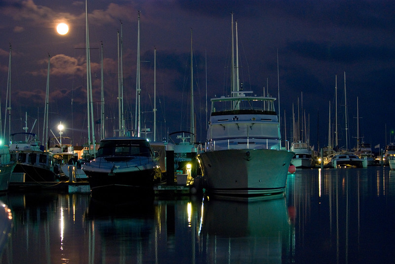 Full moon over the City Marina