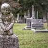 Little girl on headstone, Magnolia Cemetery