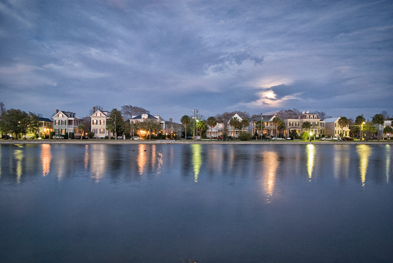 Moonrise over Colonial Lake