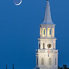 St. Michael's Church Steeple and Crescent Moon