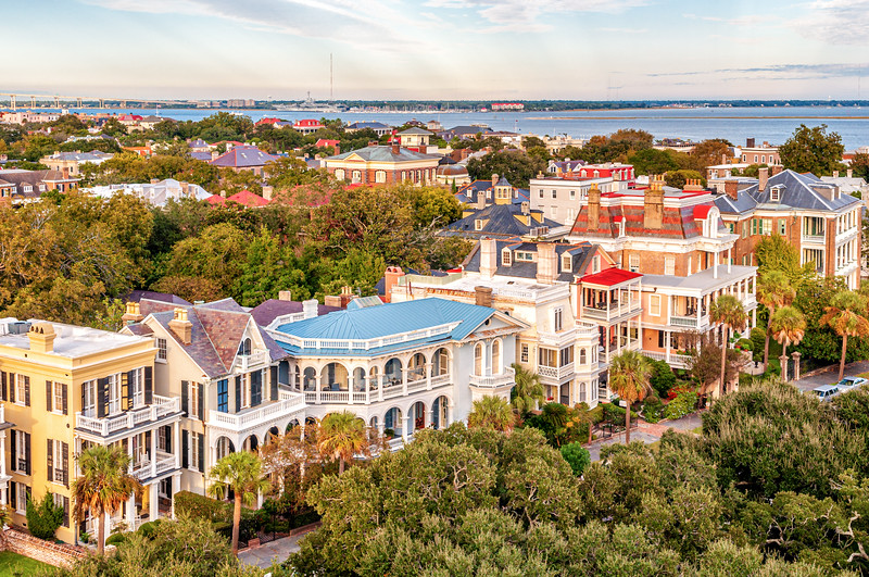 South Battery Mansions and Rooftops