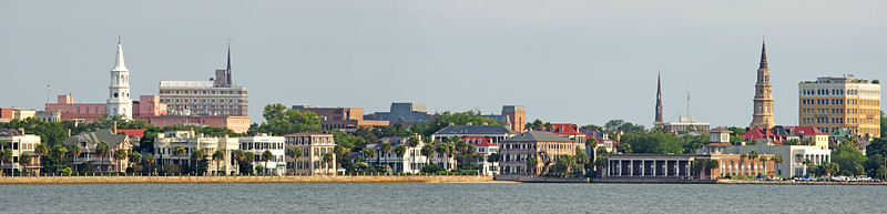 Charleston skyline from the harbor