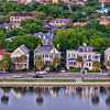 Colonial Lake and historic houses, Charleston, SC