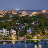 Evening View Panorama of downtown Charleston