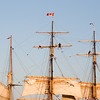 Tallship masts and sailors