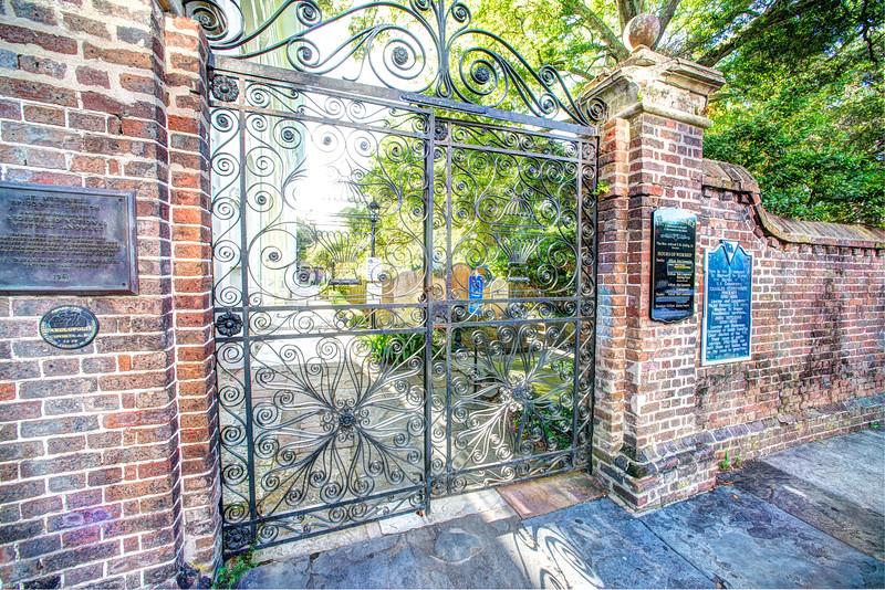 St. Michael's graveyard gate, Meeting Street