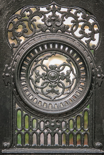 Detail of downtown residential gate