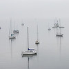 Boats anchored in Charleston Harbor