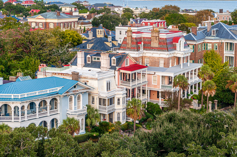 Houses on South Battery, Charleston, SC