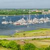 James Island Connector, Ashley River and Charleston City Marina Panorama