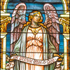 Stained glass window in Cathedral of St. Luke & St. Paul