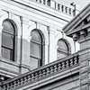 Architectural detail, US Post Office, Broad Street (b&w)