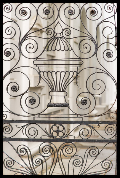 Detail of wrought iron gate, St. Michael's Church, Charleston