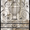Detail of wrought iron gate