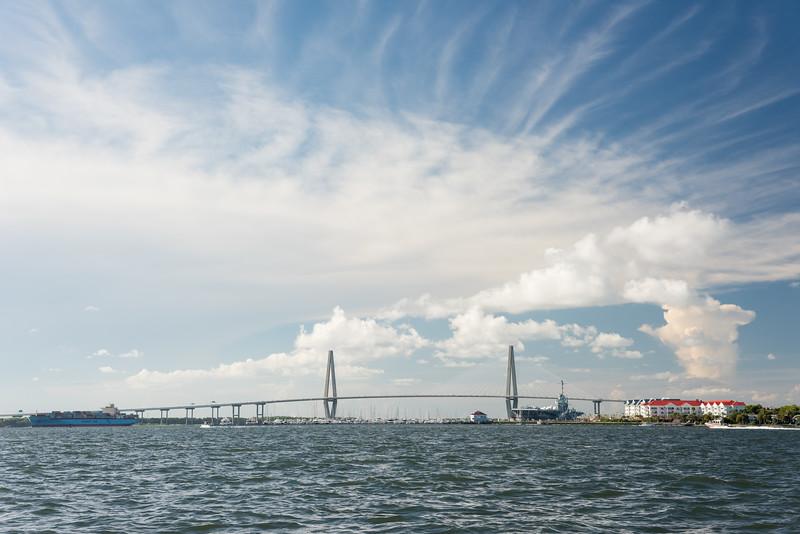 Charleston Harbor and the Arthur Ravenel Bridge