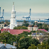 View of Charleston Skyline with St. Michael's Church and St. Philips Church steeples