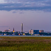 The Battery and view of Charleston from James Island